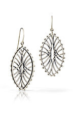 Oval Arc Earrings by Nikki Nation (Silver Earrings)