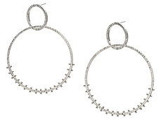 Double Circle Earrings by Nikki Nation (Silver Earrings)