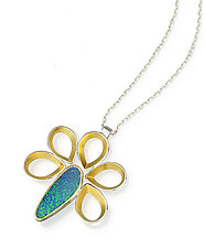 Pavone Pendant by Thea Izzi (Gold & Stone Necklace)