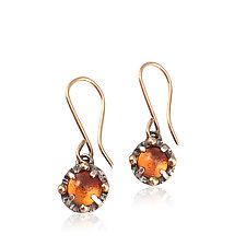 Juju Citrine Dangle Earrings by Jenny Windler (Gold, Silver & Stone Earrings)