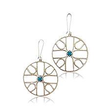 Sym Earrings by Jenny Windler (Silver & Stone Earrings)