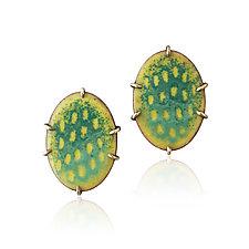 Sift Stud Earrings by Jenny Windler (Enamel Earrings)