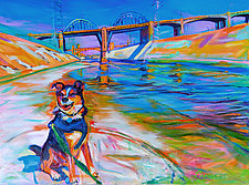 Scout the River Guard by Bonnie Lambert (Oil Painting)