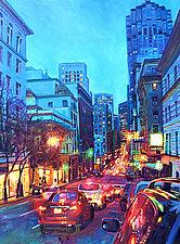 Bright Lights, Big City by Bonnie Lambert (Oil Painting)