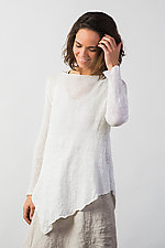 Linen Angled Pullover by Cara May (Knit Sweater)