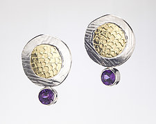 Sunny Side Up by Louise Norrell (Gold, Silver & Stone Earrings)