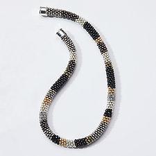 Metallic Bead Crochet Necklace by Sher Berman (Beaded Necklace)