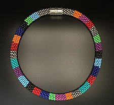 Multi Color Collar Necklace by Sher Berman (Beaded Necklace)