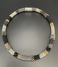 Mixed Metal Bead Crochet Necklace by Sher Berman (Beaded Necklace)