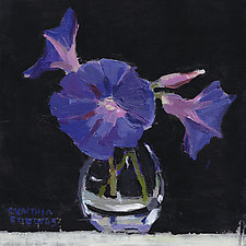 Morning Glories by Cynthia Eddings (Oil Painting)