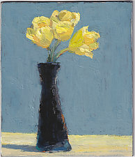 Yellow Tulips 2 by Cynthia Eddings (Oil Painting)
