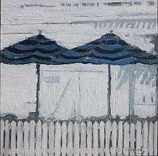The Beach Club Twins by Cynthia Eddings (Oil Painting)