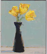 Yellow Tulips 1 by Cynthia Eddings (Oil Painting)