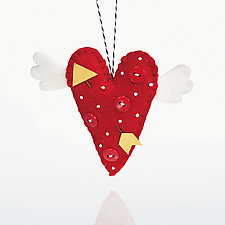 Love Me Tender by Nicole Golden (Wool Felt Ornament)