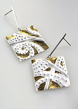 The Heavens Are Telling Earrings by Marcia Meyers (Gold & Silver Earrings)
