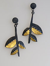 Golden Branch Earrings by Marcia Meyers (Gold & Silver Earrings)