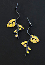 Autumn Sojourn Earrings by Marcia Meyers (Gold & Silver Earrings)