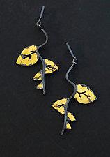 Autumn Sojourn Earrings by Marcia Meyers (Gold & Silver Earrings)