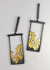 Trees Outside My Window Earrings by Marcia Meyers (Gold & Silver Earrings)