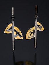 Winter Spirit Earrings by Marcia Meyers (Gold & Silver Earrings)