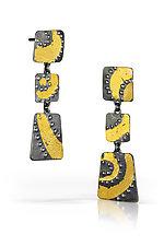 Night Sky IV Earrings by Marcia Meyers (Gold & Silver Earrings)