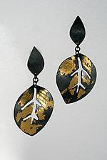 Leaf Classic Earrings by Marcia Meyers (Gold & Silver Earrings)