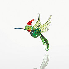 Holiday Herald by Kevin McKay, Maki Kawakubo, and Kirsten Loewen (Art Glass Ornament)