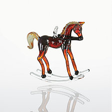 Off to the Races by Kevin McKay, Maki Kawakubo, and Kirsten Loewen (Art Glass Ornament)