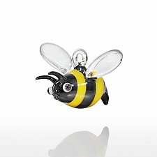 Bumblebee by Kevin McKay, Maki Kawakubo, and Kirsten Loewen (Art Glass Ornament)
