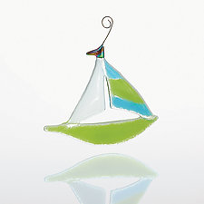 Sail Away by Sharon McNamara and Paul Palango (Art Glass Ornament)