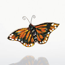 Monarch by Sharon McNamara and Paul Palango (Art Glass Ornament)