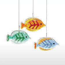 School's Out by Susan Bradshaw (Art Glass Ornaments)