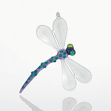 Lace Wing by Billy Mayer (Art Glass Ornament)