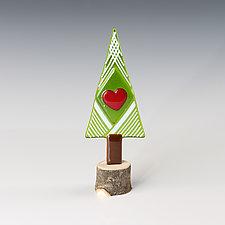 Sweetheart Tree by Terry Gomien (Art Glass Sculpture)