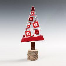 Crimson Gem Tree by Terry Gomien (Art Glass Sculpture)