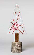 Christmas Trees by Terry Gomien (Art Glass Sculpture)