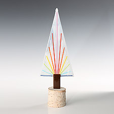 Shine On Tree by Terry Gomien (Art Glass Sculpture)
