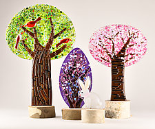 Whimsical Woodland by Terry Gomien (Art Glass Sculpture)