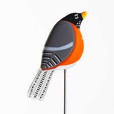 Garden Birds by Terry Gomien (Art Glass Sculpture)