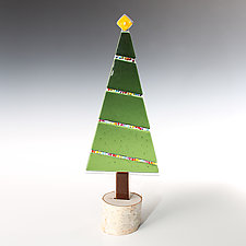 Twinkling Lights Tree by Terry Gomien (Art Glass Sculpture)