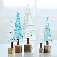 Winter Woodland Set by Terry Gomien (Art Glass Sculpture)