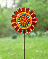 Candy Flower Garden Stake by Terry Gomien (Art Glass Sculpture)