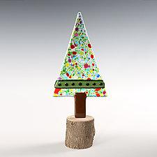 Claude Tree by Terry Gomien (Art Glass Sculpture)
