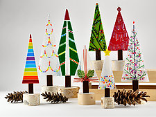 Classic Tree Set by Terry Gomien (Art Glass Sculpture)