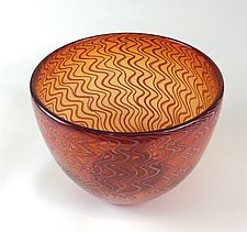 Blown Glass Basket Weave by Andrew Stenerson (Art Glass Vessel)