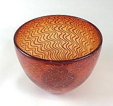 Blown Glass Basket Weave by Andrew Stenerson (Art Glass Vessel)