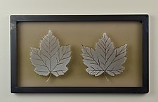 Maple Leaves by Andrew Stenerson (Art Glass Wall Sculpture)