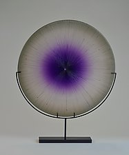 Amethyst Splash by Andrew Stenerson (Art Glass Sculpture)