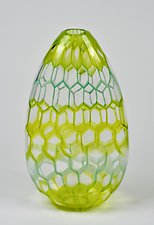 Menthol Murrini Vase by Andrew Stenerson (Glass Vessel)