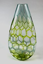Tall Menthol Vessel by Andrew Stenerson (Art Glass Vessel)